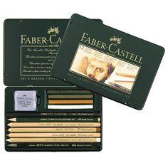 FABER CASTELL 12 pieces of pencil sketch a pastel sketch painting a combination of carbon 112960 Faber Castell Pitt, Pen Store, Renaissance, Artist Pencils, Pencil Writing, Sketch Painting, Colored Pencils, Art Supplies, Monochrome