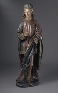 Statue of a Male Saint (Cosmas or Damian) - Munich, Germany - Circle of Erasmus Grasser - c. 1480-1500