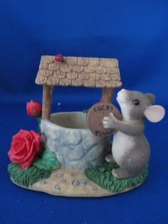 Charming Tails Mackenzie Mouse, Wishing Well, Charity, Spec Ed, Dean Griff, - http://collectiblefigurines.net/charming-tails/charming-tails-mackenzie-mouse-wishing-well-charity-spec-ed-dean-griff/