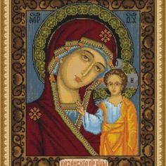 I checked out Luca-S Broderie Point de Croix Compté Icône Notre Dame de Kazan  on Lish, € 40,98
