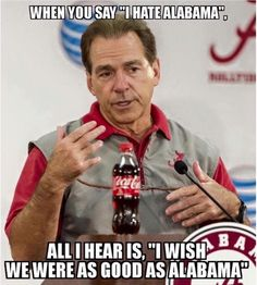 After the last match of Alabama, alabama memes goes viral on social media and internet. We compilte the ultimate collection of viral alabama memes. Roll Tide Alabama, Roll Tide Football, Sec Football, Crimson Tide Football, Alabama Crimson Tide, Alabama Vs, Alabama Baby, College Football Memes, Alabama Football Funny