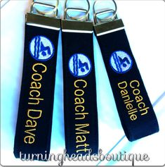 Personalized Coach Gift / Sports keychain by TurningHeadsBoutique, $10.50 etsy
