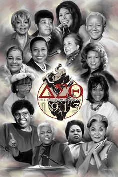 Some of the thousands who have made a difference for others,  delta sigma theta art -