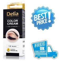 Profession Delia Henna Color Cream Eyebrow Tint Kit Dye Black Brow