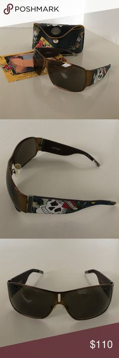 91e2c153bc Sunglasses Ed Hardy Never worn. Ed Hardy sunglasses with case and cleaning  cloth. Ed Hardy Accessories Glasses