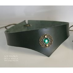Green Leather Tiara Medieval Warrior Headband Leather Crown ($19) ❤ liked on Polyvore featuring accessories, hair accessories, grey, leather headband, adjustable headbands, hair band headband, green hair accessories and green headband