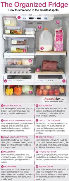 25 Trendy Ideas Kitchen Organization Hacks Cleaning Tips Refrigerator Organization, Kitchen Organization, Organization Hacks, Organized Fridge, Fridge Storage, Clean Fridge, Organizing Tips, Freezer Organization, Fridge Cleaning