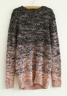 Pink Round Neck Long Sleeve Wool Blend Cardigans - Sweaters - Tops: