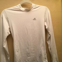 Adidas White Active Shirt An adidas white active shirt , used but in good condition. Size S. Doesn't fit me anymore. Adidas Tops Tees - Long Sleeve