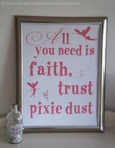 Image of Faith Trust & Pixie Dust