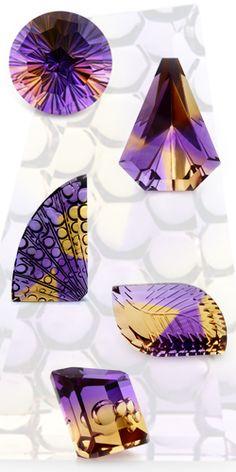 Ametrine. Amethyst / Citrine. Purple and Yellow Gemstone.