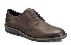 Ecco Contoured Mens Brogue Detail Lace Up Smart Casual Shoe 632034-02072 - Robin Elt Shoes http://www.robineltshoes.co.uk/store/search/brand/Ecco-Mens/ #Autumn #Winter #AW13