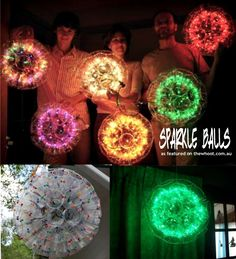 sparkle balls made from plastic cups pure genius!