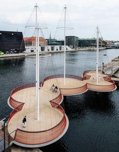 Мост с мачтами в Копенгагене