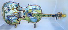 LOVE...LOVE...LOVE... Beautiful Quimper Violin Jardiniere. Photo courtesy of countryfrenchpottery.com