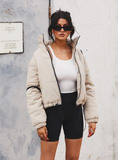 Shop Princess Polly online now for hot Jackets & Jumpers styles trending right now! Buy now, pay later with Afterpay. Winter Fashion Outfits, Trendy Outfits, Fall Outfits, Cute Outfits, Cold Winter Outfits, Chilly Day Outfit, Casual Sporty Outfits, Winter Outfits Tumblr, Snow Day Outfit
