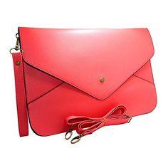 b760c3802e65 iMaySon Women Envelope Clutch Case Purse Shoulder Bag HandBag Tote Bag  (Red) New Handbags
