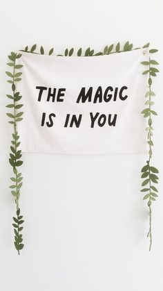 """Wallpaper with an inscription: """"The Magic is in you"""" Thalia Grace, Jason Grace, Zoe Nightshade, Sadie Kane, Grover Underwood, Rachel Elizabeth Dare, Will Solace, Frank Zhang, Piper Mclean"""