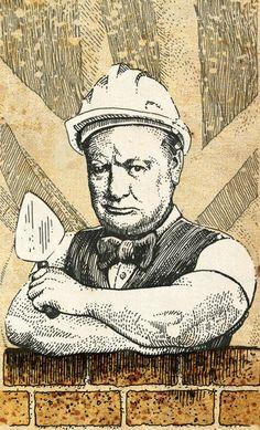 Winston Churchill, the bricklayer…
