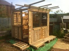 My Yorkshire Allotment: The Pallet Shed Build | #allotment #shed #gardening