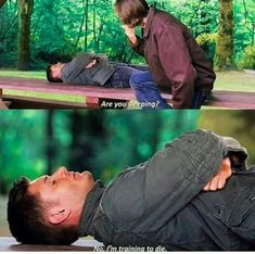 Funny Supernatural Posts That Remind You It's The Best Show Ever (Episode Supernatural Series, Supernatural Wallpaper, Supernatural Funny, Supernatural Bloopers, Supernatural Tattoo, Supernatural Imagines, Winchester Boys, Winchester Brothers, Dean Winchester Quotes