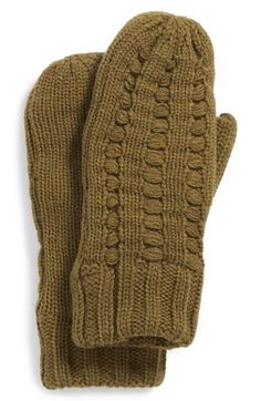 Bickley + Mitchell Faux Fur Lined Knit Mittens available at #Nordstrom