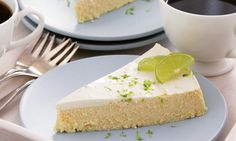 Crustless Ginger Cheesecake with Lime-Sour CreamTopping - Read More at SpryLiving.com