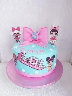Lol cake by Motty's oven Birthday Drip Cake, Doll Birthday Cake, Funny Birthday Cakes, Birthday Cake Decorating, Birthday Cupcakes, 7th Birthday Party Ideas, Dance Party Birthday, Lol Doll Cake, Surprise Cake