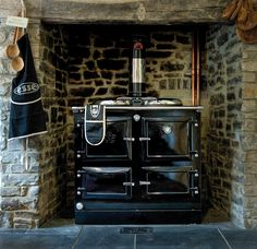 990 Central heating cast iron range cooker.