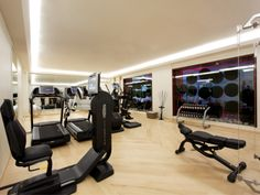 """For the Fitness center the MAJClub boasts all the latest equipment, from treadmills to stationary and elliptical bikes, rowing machines, kinesis, soft balls, barbell benches, a dance bar with mirrors and technogym. Ideally located in the heart of Paris, the club is already the """"place to be"""" for everybody wanting to take of themselves in an exceptional setting."""
