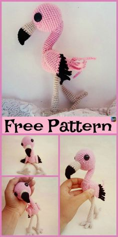 This FREE Crochet Baby Flamingo Amigurumi Pattern is so adorable ! These baby flamingos will be a great toy for a baby. Crochet Parrot, Crochet Flamingo, Crochet Birds, Cute Crochet, Crochet Dolls, Crochet Yarn, Crochet Animal Patterns, Baby Knitting Patterns, Knitting Toys