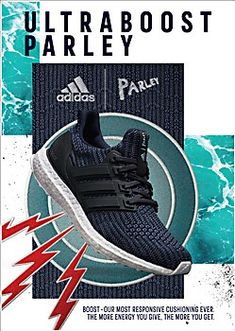 0f43f2fad The print ads for the adidas x Parley UltraBoost sneakers invite runners to  join a global movement to run for the oceans.