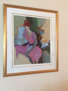 "Itzchak Tarkay, 180/300 (40"" x 47"" framed)"