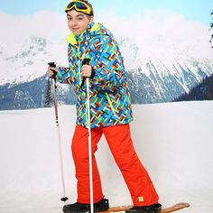 61.93$  Watch now - http://ali0w0.shopchina.info/go.php?t=32748309573 -  2016 Childen Cheap Ski Suit Snowboarding Suits Boys Ski Suit Kids Clothes Camping Outdoor Sport Jacket And Pant  For 3T To 16T 61.93$ #magazineonlinewebsite
