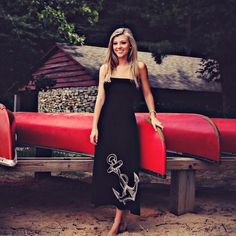 All-American smile! (Featured: Castaway Maxi Dress in black) Use discount code: MEMORIAL16 for 15% off through Monday! http://ift.tt/1m7YrY2  #memorialdaysale