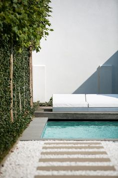 Pool and green wall