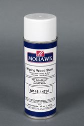Wiping Wood™ Stain Aerosol Mohawk brand wood stain (http://www.mohawk-finishing.com/catalog_browse.asp?ictNbr=670)