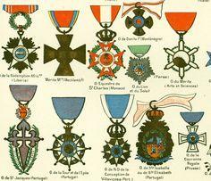 1897 Décorations militaires Prusse Portugal par sofrenchvintage