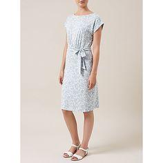 Buy Hobbs Iris Dress, Blue Ivory Online at johnlewis.com