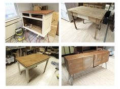 Blick in die Werkstatt…. Teak, Restaurant, Creme, Corner Desk, Furniture, Home Decor, Restoration, Carpentry, Wood Turning