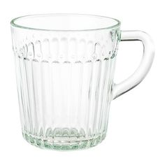 IKEA clear glass, Mug, 36 cl. IKEA series has everything for the table – to be enjoyed for its everyday simplicity or pimped up with colours and accessories. Made from tempered glass that holds both hot and cold beverages. Coffee Set, Coffee Cups, Tea Cups, Coffee Maker, Clear Glass, Glass Art, Cocktail Glassware, Ground Coffee Beans