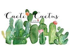 Cactus clip art hand painted clip art summer clip art