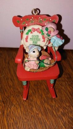 1994 ENESCO CHRISTMAS ORNAMENT- GOOD FRIENDS ARE FOREVER COLLECTIBLE