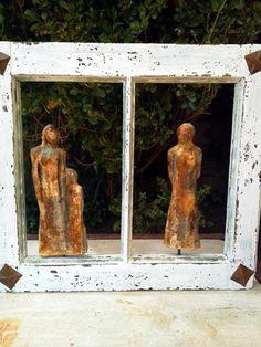 Decoupage, Sculpture, Diy, Ideas Para, Painting, Vintage, Women, Stone Art, Restoring Furniture