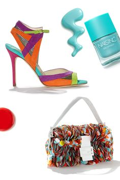 Why blend in when you can stand out? Brian Atwood and Fendi bring you bold brights that never disappoint.