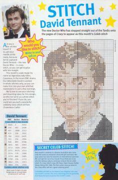 Ha!  This might be taking it too far:  David Tennant Cross Stitch Chart