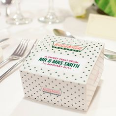 Whisper & Blush| Customised Krispy Kreme| Wedding Favours