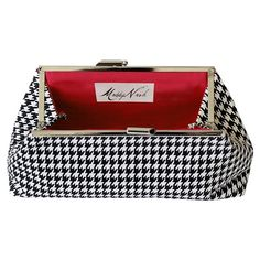 I pinned this Maddy Nash Houndstooth Clutch with Red Interior from the Bright & Bold Accessories event at Joss and Main!
