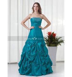 NATALIA - Bridesmaid A-line Floor length Taffeta Strapless Wedding party dress