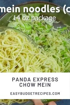 This Copycat Panda Express Chow Mein recipe is easy to make and come together in just 20 minutes. The recipe serves 6 and costs $4.26 to make. Follow Easy Budget Recipes for more quick and easy meals!